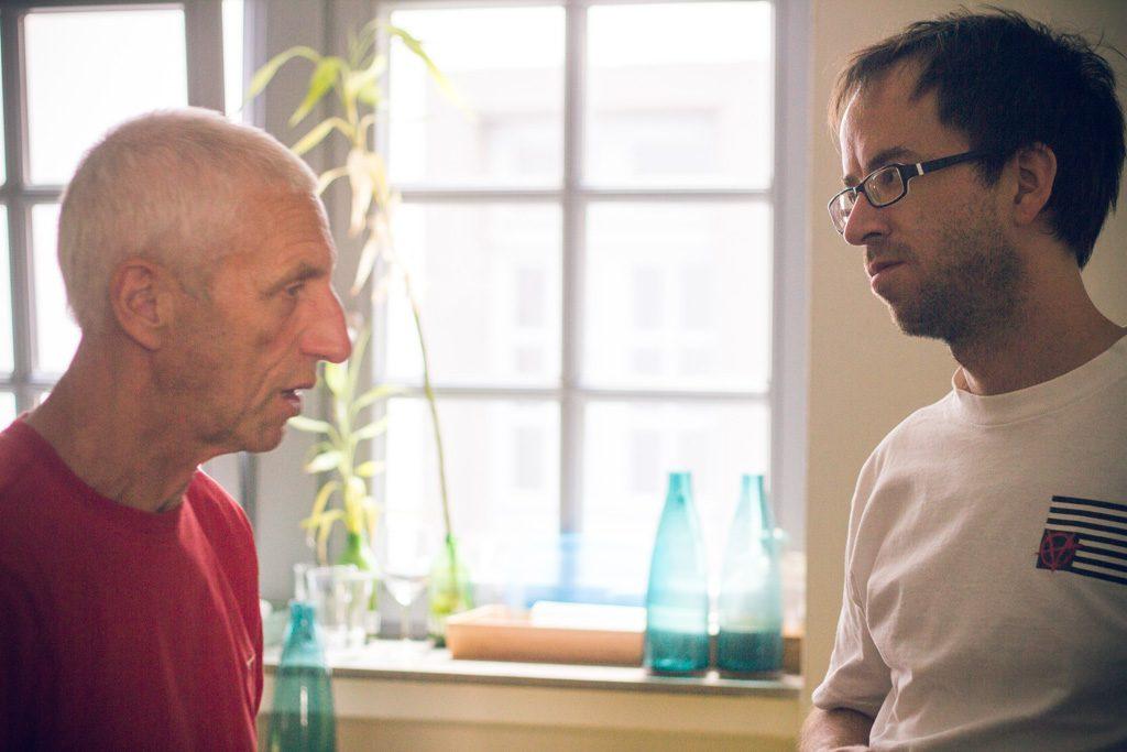 Gerhard und Frieder im Gespräch